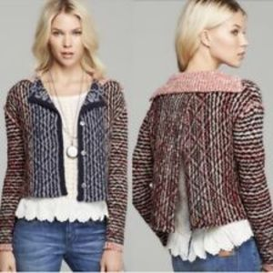 FREE PEOPLE | Split Back Button Up Cardigan Wool M